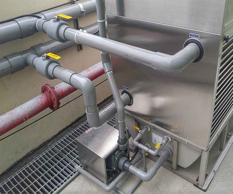 Where limescale accumulates on equipment