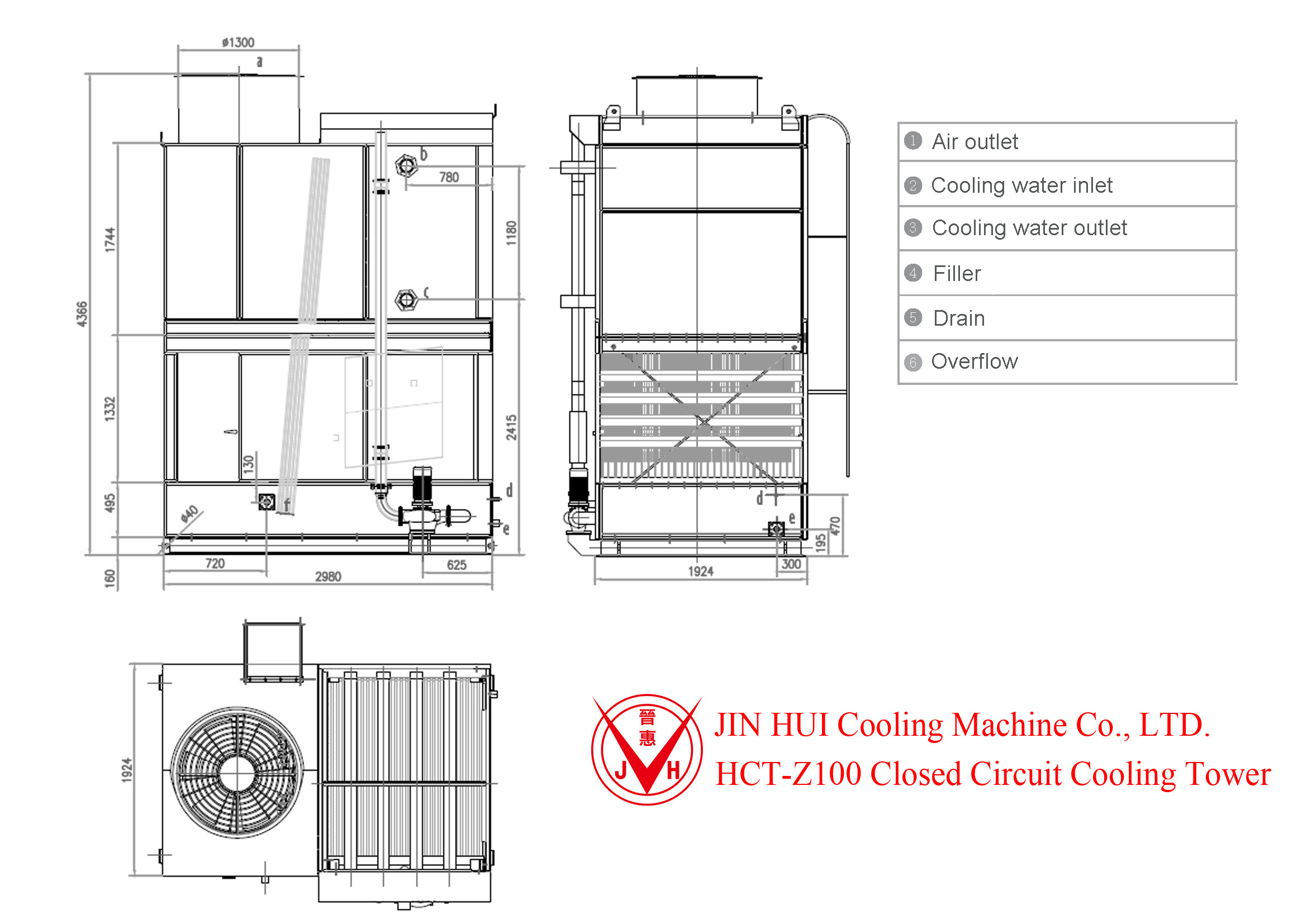 mixed flow  u0026 high efficiency closed cooling tower