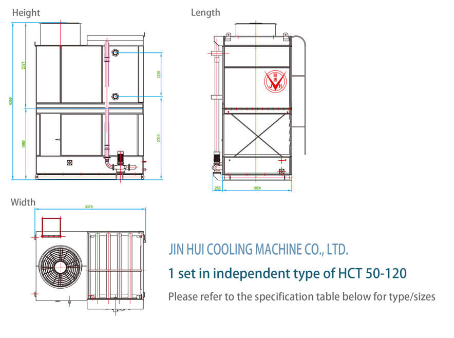 1 set in independent type of htc 50-120