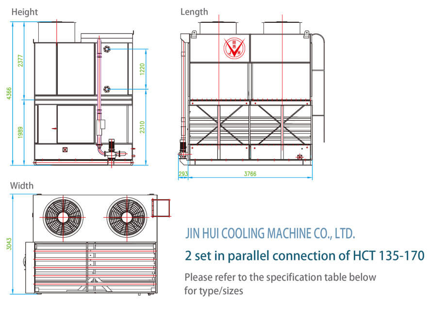 2 set in parallel connection of HCT 135-170